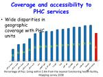 coverage and accessibility to phc services