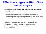 efforts and opportunities plans and strategies