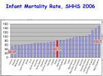 infant mortality rate shhs 2006