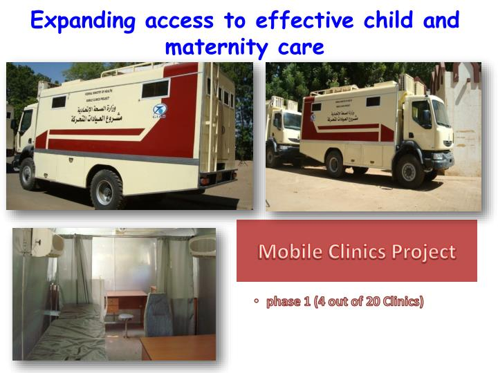 Expanding access to effective child and maternity care