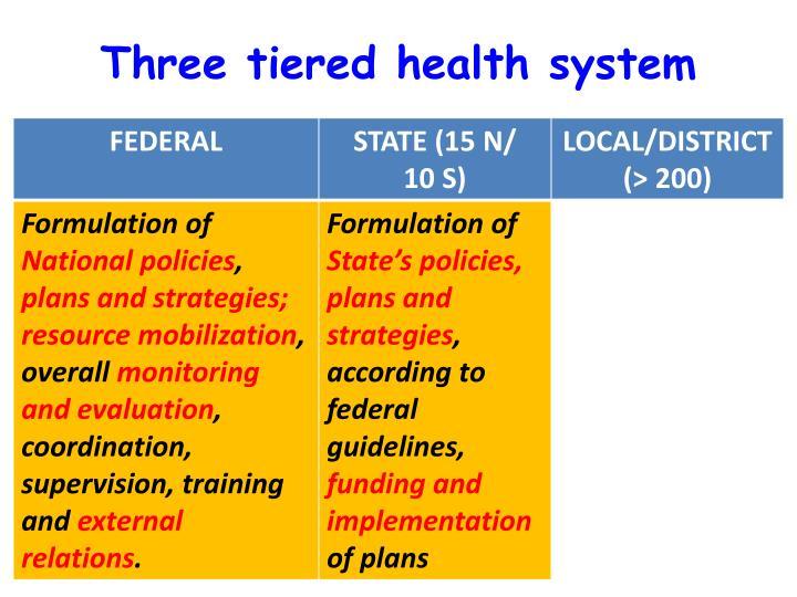 Three tiered health system