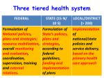 three tiered health system2
