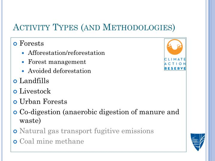 Activity Types (and Methodologies)