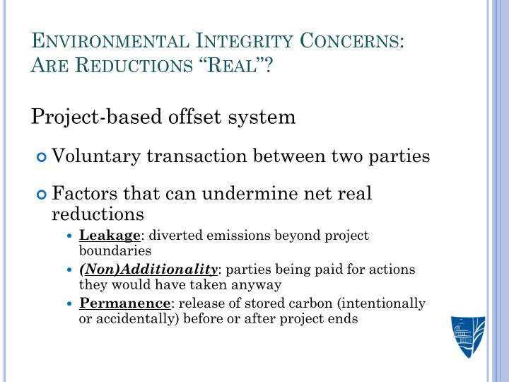 Environmental Integrity Concerns: