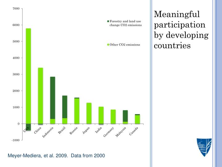 Meaningful participation by developing countries