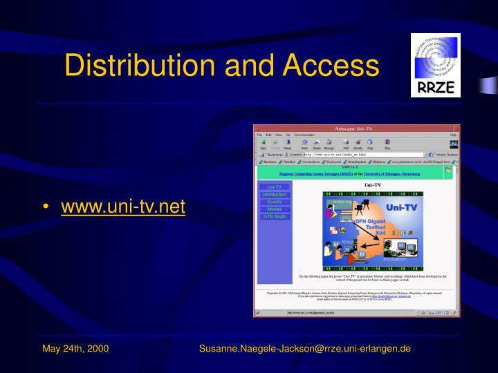 Distribution and Access