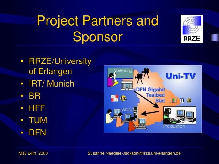 Project partners and sponsor