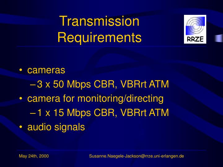 Transmission Requirements
