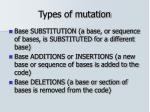 types of mutation