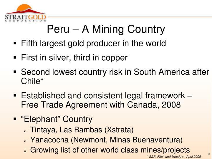 Peru – A Mining Country