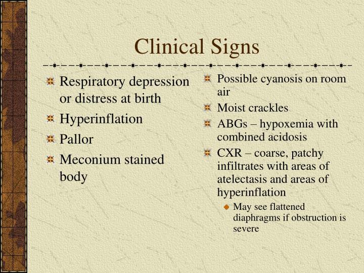 Respiratory depression or distress at birth