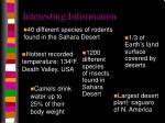 interesting information