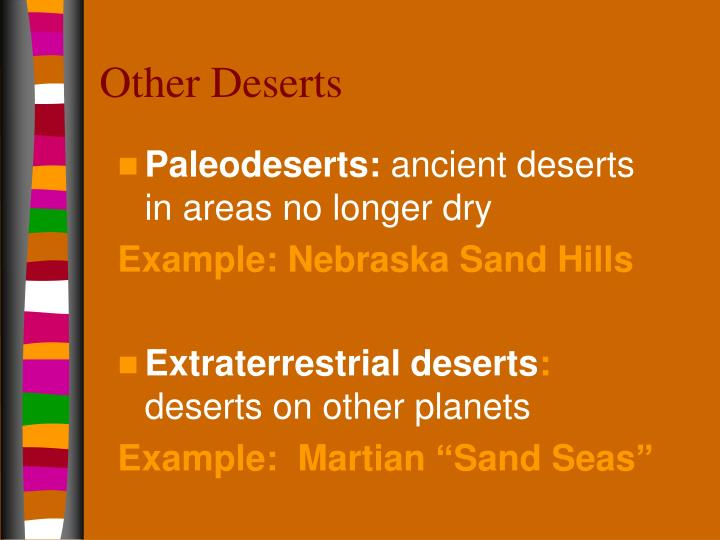 Other Deserts