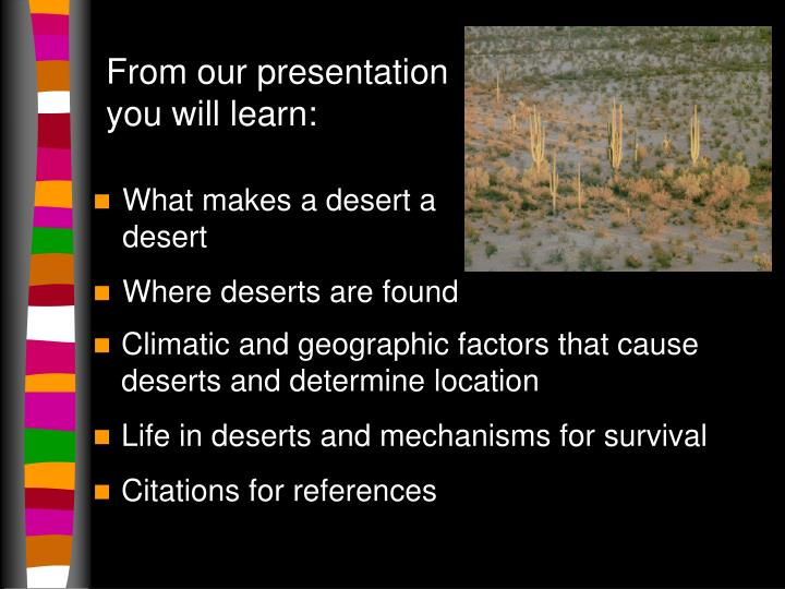From our presentation you will learn: