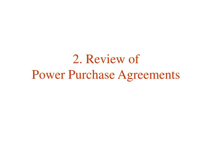 2. Review of