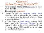 closure of nellore thermal station nts