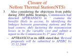 closure of nellore thermal station nts1