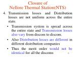 closure of nellore thermal station nts2