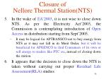 closure of nellore thermal station nts4