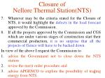 closure of nellore thermal station nts5