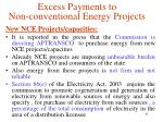 excess payments to non conventional energy projects1
