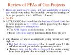 review of ppas of gas projects2