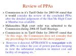 review of ppas