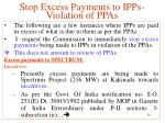 stop excess payments to ipps violation of ppas