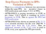 stop excess payments to ipps violation of ppas13