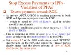 stop excess payments to ipps violation of ppas15