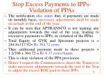 stop excess payments to ipps violation of ppas16