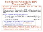 stop excess payments to ipps violation of ppas17