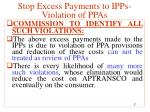 stop excess payments to ipps violation of ppas18