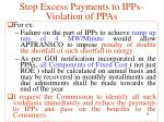 stop excess payments to ipps violation of ppas19