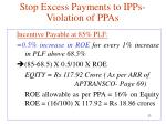 stop excess payments to ipps violation of ppas4