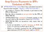 stop excess payments to ipps violation of ppas6