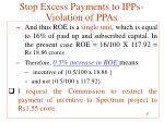 stop excess payments to ipps violation of ppas8