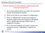 building a strong foundation3
