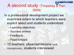 a second study timperley parr 2009