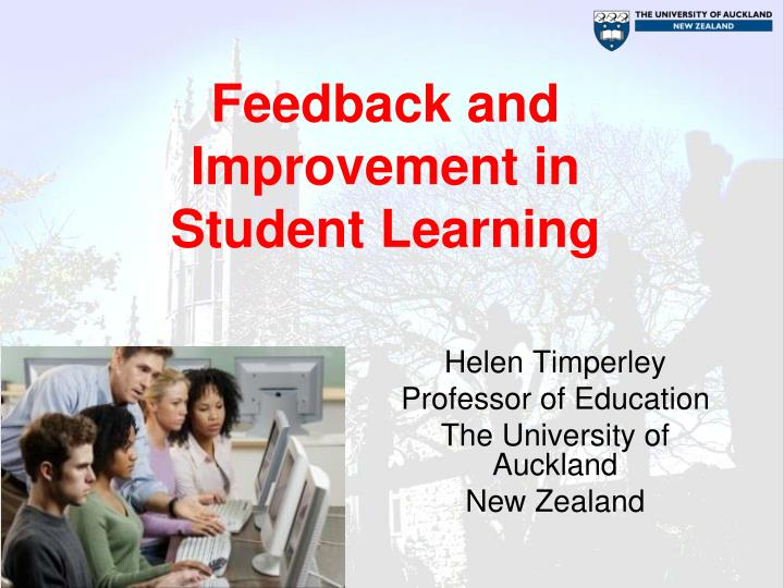 Feedback and improvement in student learning