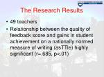 the research results