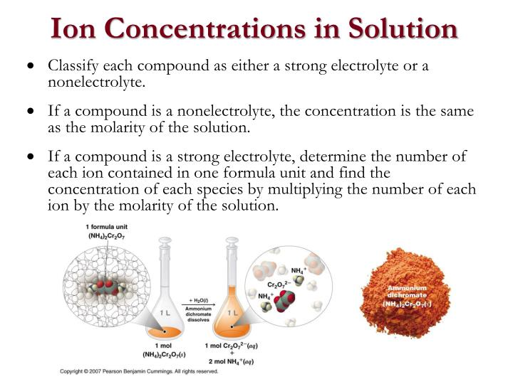 Ion Concentrations in Solution