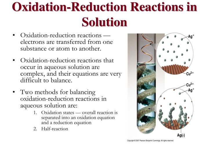 Oxidation-Reduction Reactions in Solution