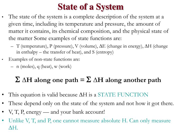 State of a System