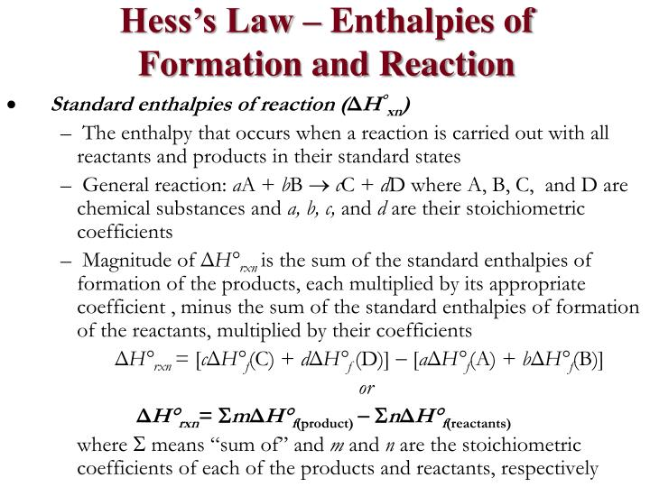 Hess's Law – Enthalpies of