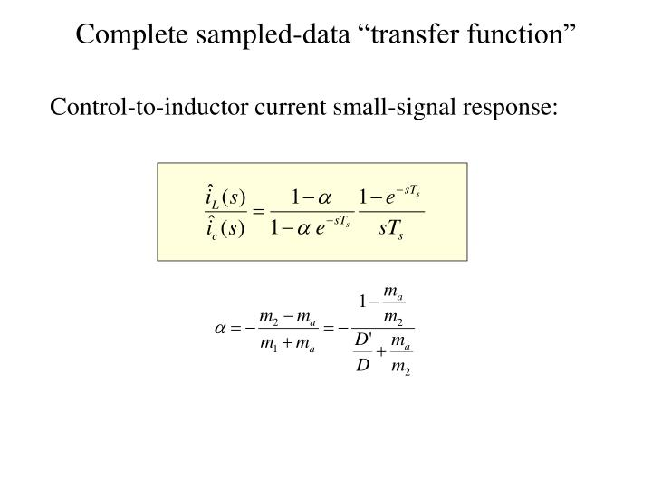 "Complete sampled-data ""transfer function"""