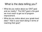 what is the data telling you