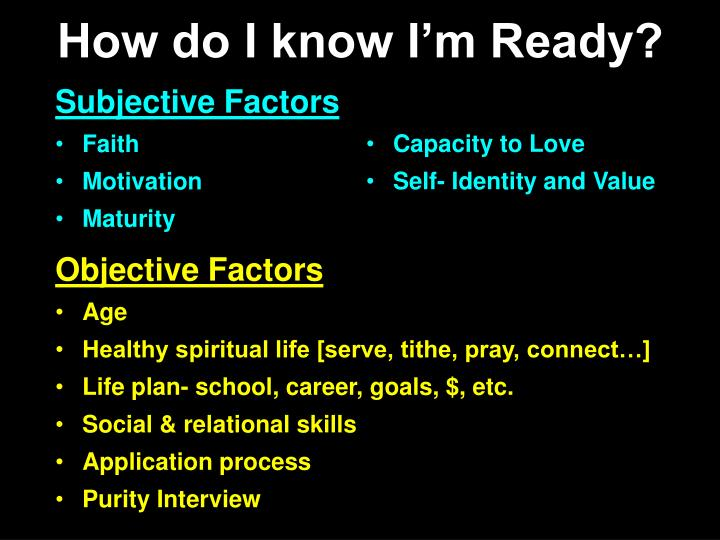How do I know I'm Ready?