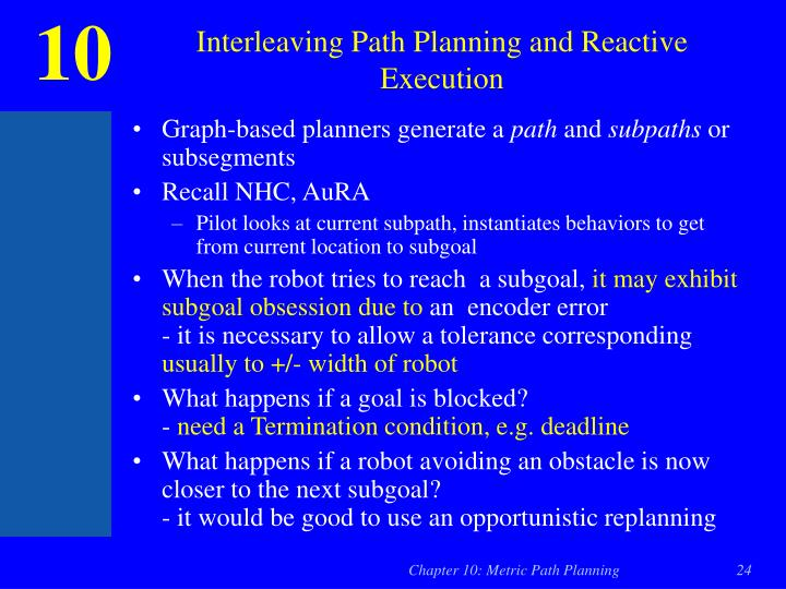 Interleaving Path Planning and Reactive Execution