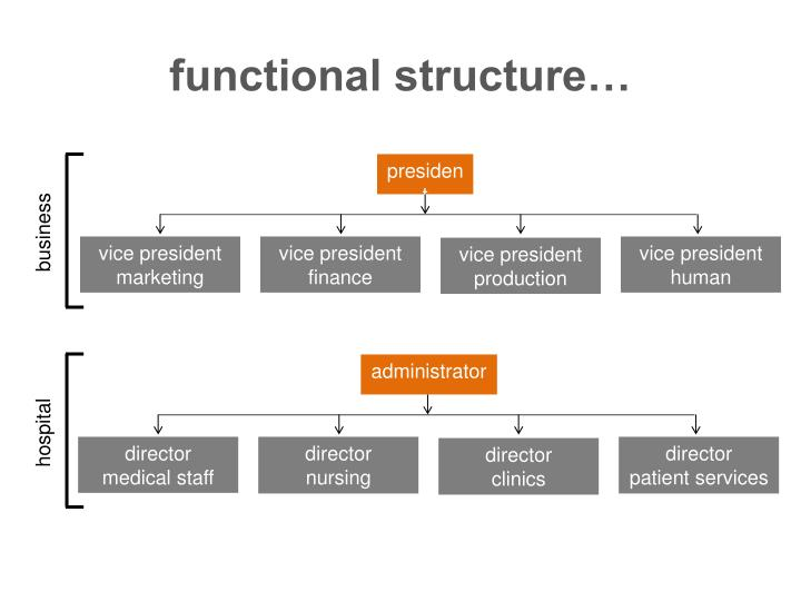 functional structure…